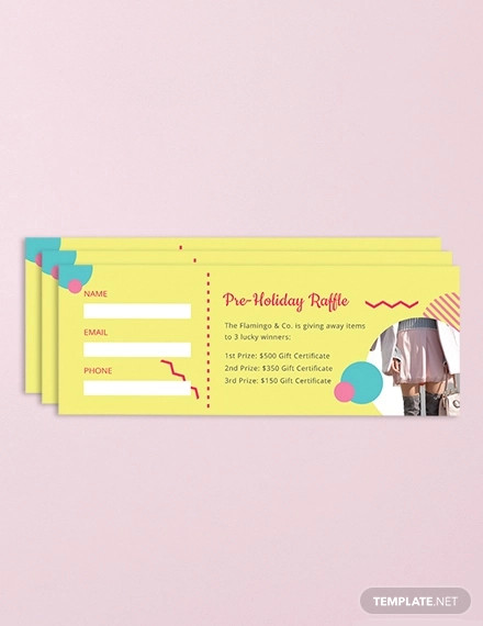 raffle ticket example