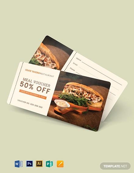 printable food voucher template